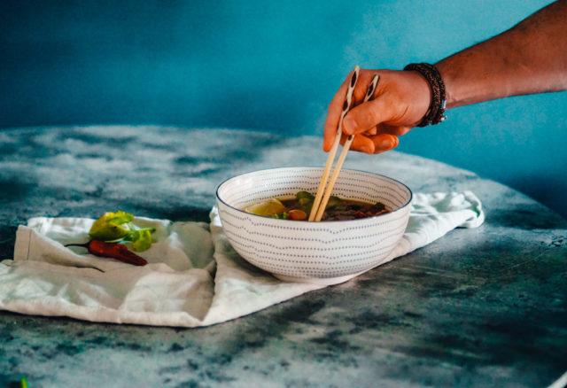 Vegan Vega Vietnameese noedelsoep Pho recept