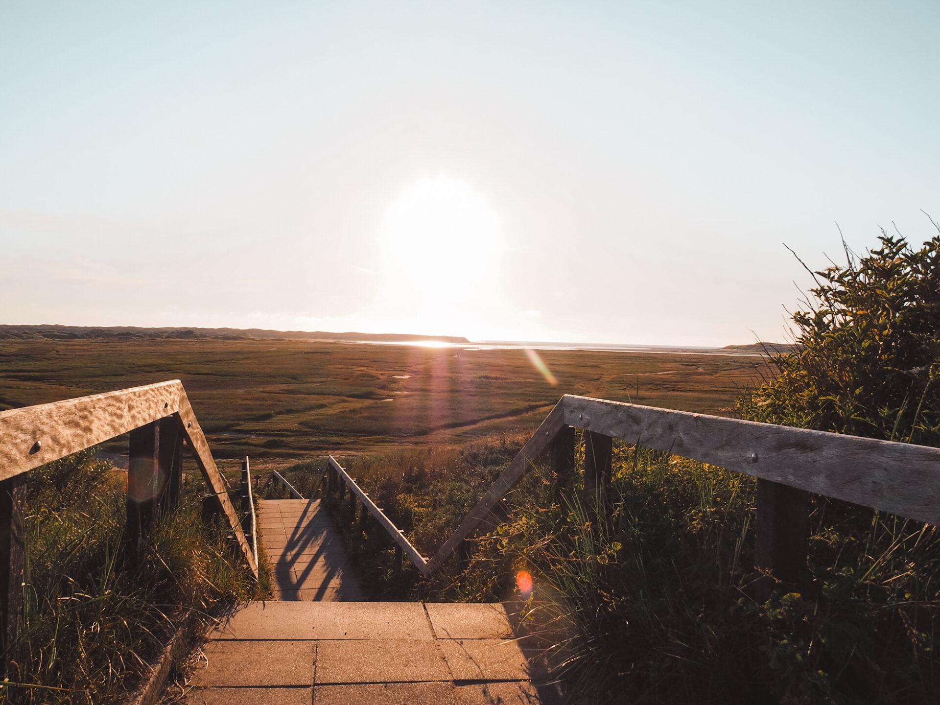 Slufter trap uitzicht Texel