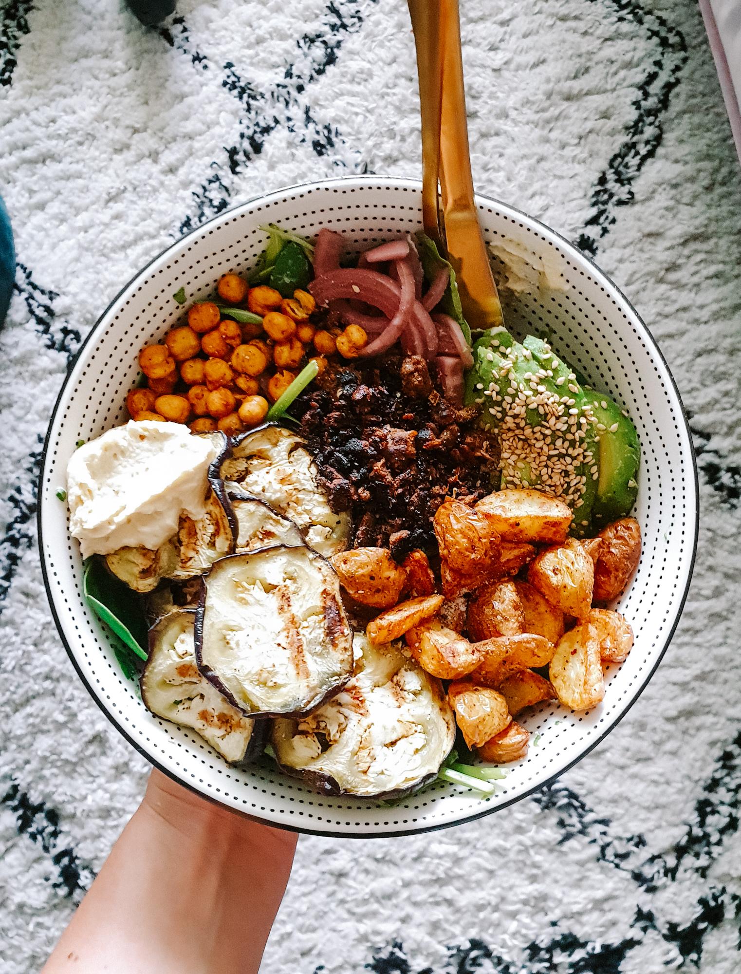 Salad Bowl Vegan Gezond eten Thuiswerken