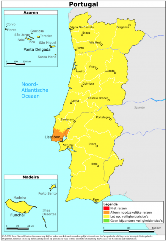 Reisadvies veiligheid Portugal Europa